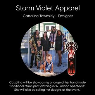 Cattalina Townsley (Storm Violet Apparel), Designer.