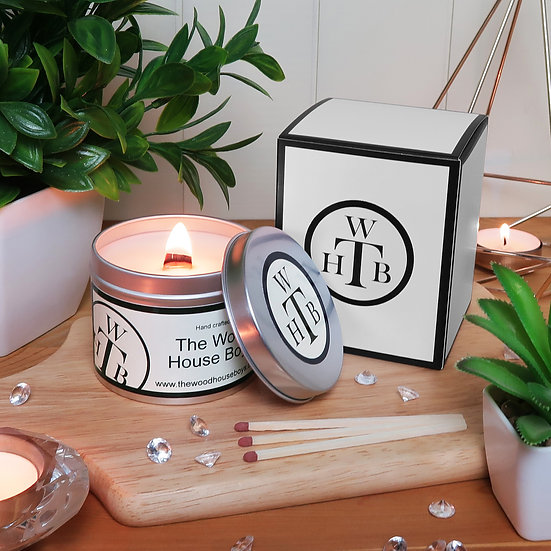 Scented Wood Wick Tin Candle - Choose Your Scents