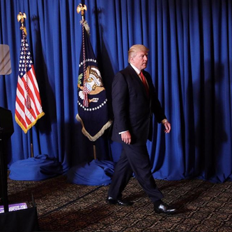 President Donald J. Trump Walking on KANE 'DaVinci' Carpet - India Carpets