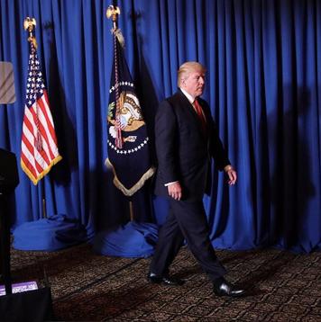 President Donald J. Trump Walking on KANE 'DaVinci' Carpet - India Carpets