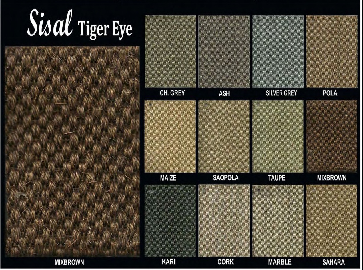 Sisal Tiger Eye Shade Card