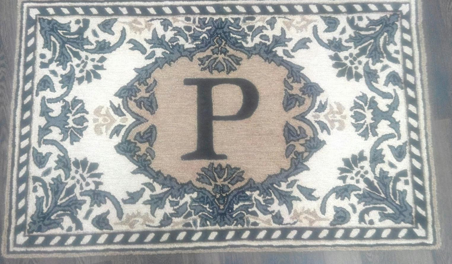 Custom Rug with Initials