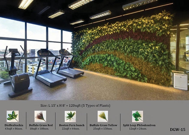 Artificial Hedge Green Wall - India Carpets and Durafit Floors