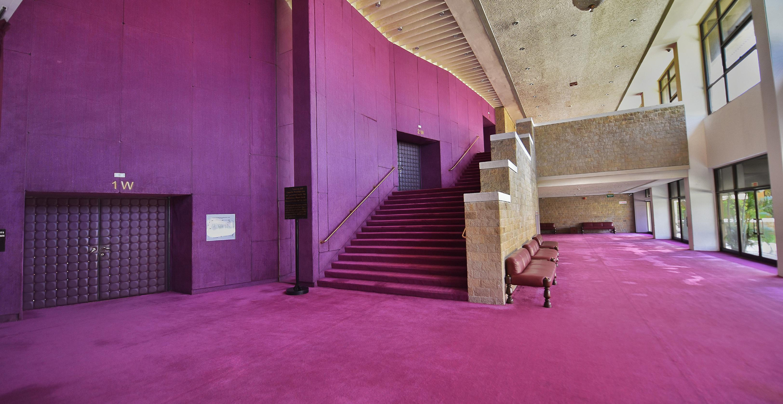 Carpet on Floor and Walls of the NCPA, Mumbai