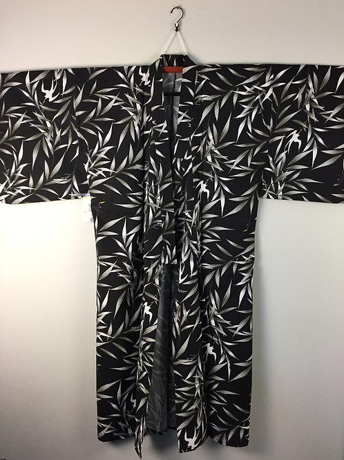 Japanese Light-Kimono BAMBOO YUKATA Black/White/Indigo/Gray/ #0390