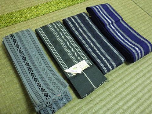 Kaku-Obi, 4 pieces set, Silk and Cotton #0122