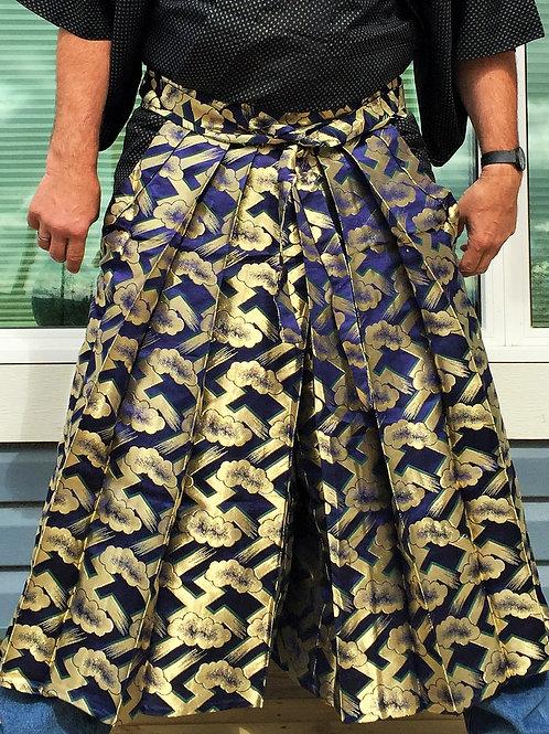 HATAMOTO HAKAMA / UMANORI (pants type) / WOVEN GOLDEN CLOUDS #0506