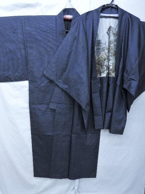 """Bushi's """"Tsumugi Kimono & Haori"""" Waterfall #0124"""
