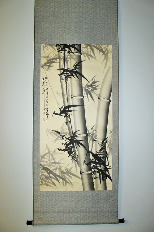 "CHINESE HANGING SCROLL ""Bamboo"" #1704"