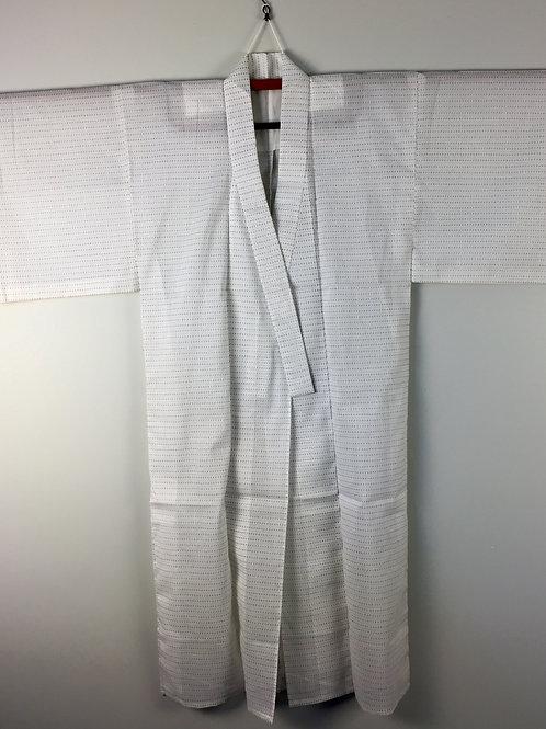 Japanese Light-Kimono White w/Abstract pattern #0391
