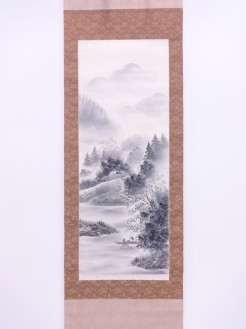 JAPANESE WALL SCROLL  HAND PAINTED  SCENERY #0156