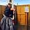 Thumbnail: SAMURAI Bu-jutsu HAKAMA (Andon) / Grey/Navy Stripe #0545