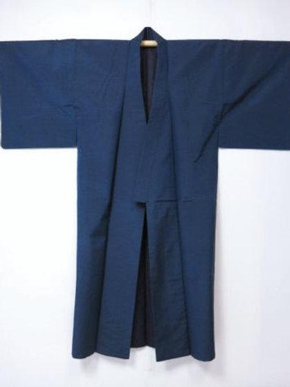 Japanese Silk Kimono, Navy #0125