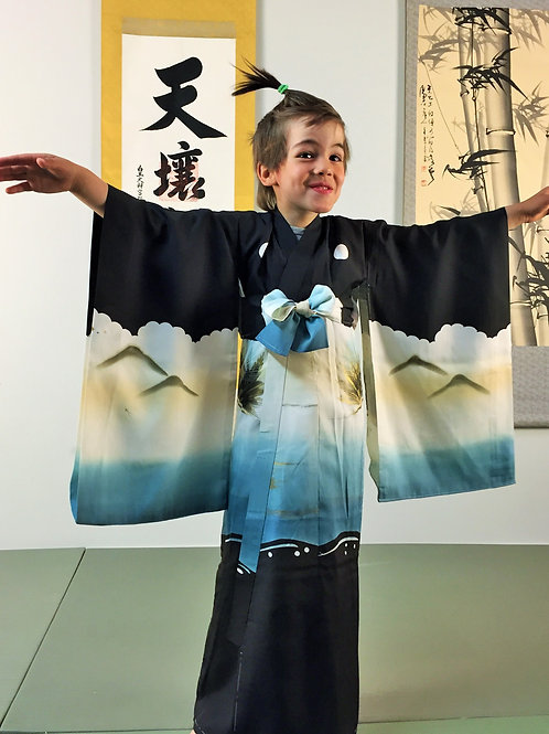 JAPANESE KIMONO FOR BOY'S - PINE & HAWK (#001)