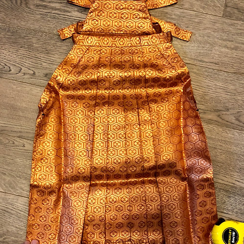 JAPANESE BOY/GIRL'S HAKAMA (ANDON type) / Copper-Gold / Crests #0559