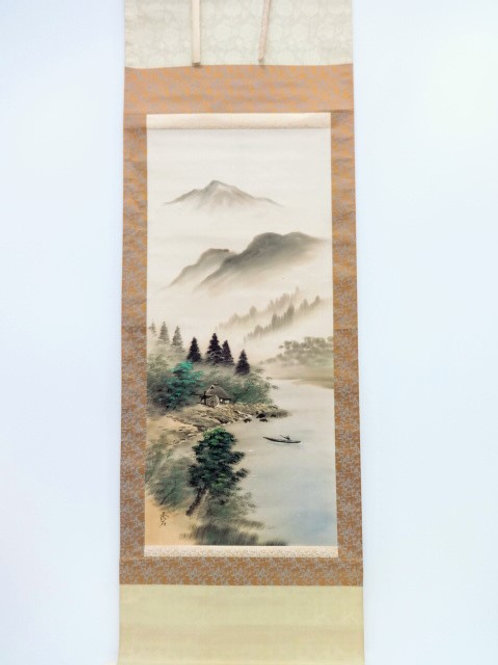 JAPANESE WALL SCROLL  HAND PAINTED  SCENERY#0192