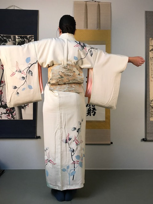 Japanese Kimono silk robe wedding/honeymoon dress2