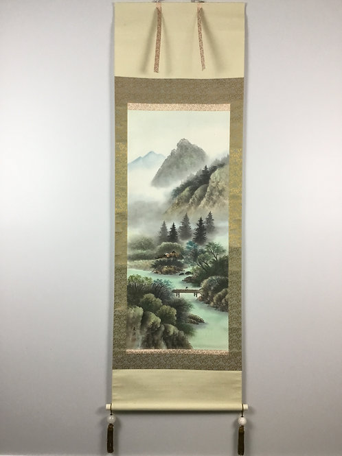 JAPANESE WALL SCROLL HAND PAINTED SCENERY #1714