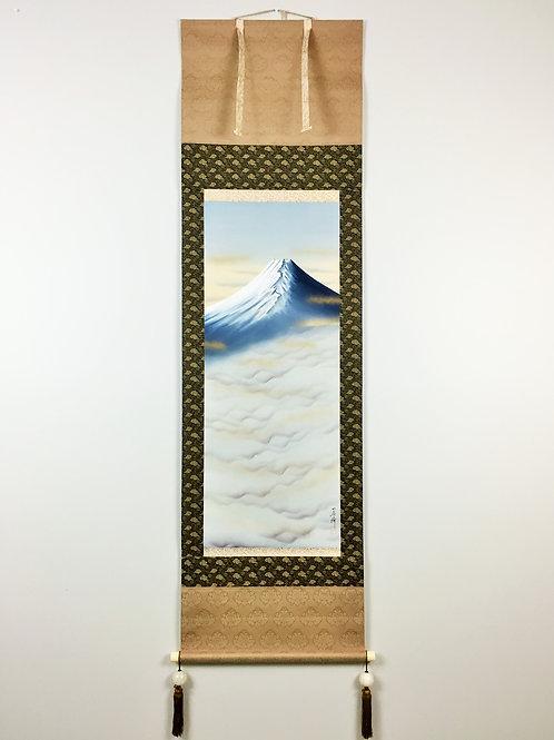 "JAPANESE HANGING SCROLL ""Mt.Fuji"" #0150"