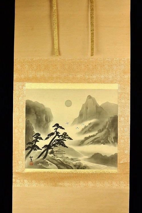 Japanese hanging scroll KAKEJIKU~3 Cranes #0141