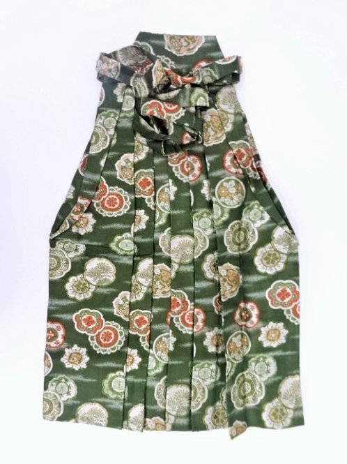 JAPANESE BOY/GIRL'S HAKAMA (ANDON type) / GREEN TEA #0558