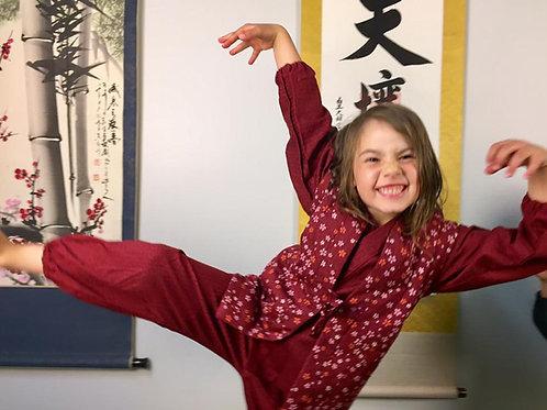 NEW! SAMUE JAPANESE KIMONO(WORKWEAR) FOR KIDS(JPN:100/110/120cm) / SAKURA #0366
