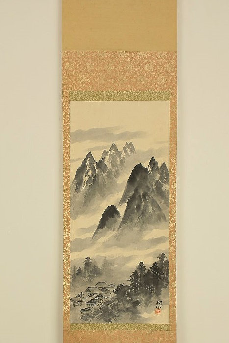 JAPANESE HANGING SCROLL Hand-painted Scenery #0188
