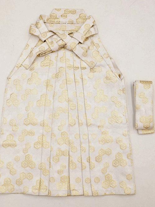 JAPANESEBOY/GIRL'S HAKAMA ANDON (type) / WOVEN KIKKO White,Cream,Gold #0555