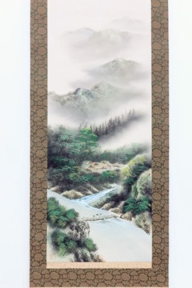 JAPANESE WALL SCROLL / HAND-PAINTED SCENERY #0158