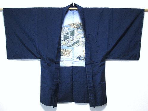 SAMURAI HAORI / SILK / HIGE TSUMUGI #0128