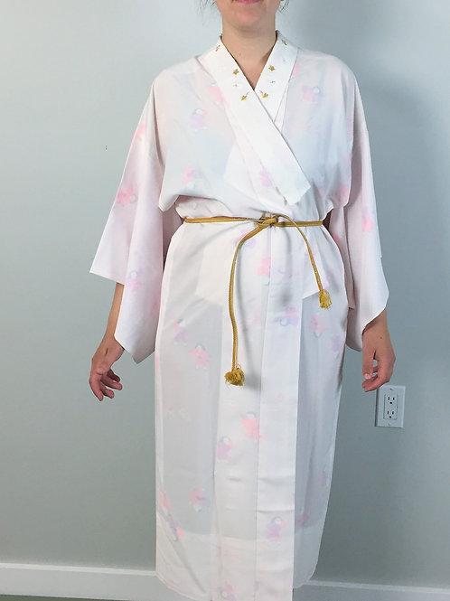 JAPANESE KIMONO JUBAN / SHIBORI / UME #0232