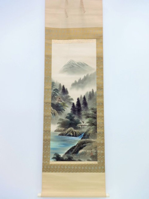 JAPANESE WALL SCROLL  HAND PAINTED  SCENERY#0194