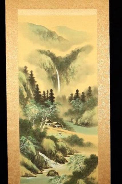 "Japanese hanging scroll by by Sensei TANAKA SUIDO ""田中翠堂"" #0140"