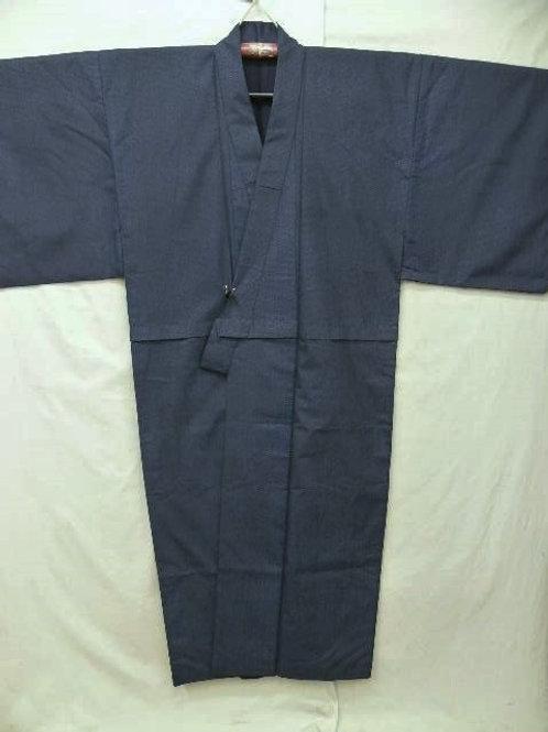 Men's Dark Indigo & Navy Okura Kimono#0108