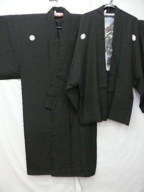 "Ronin - Japanese Silk ""Kimono & Haori"" Black #0079"