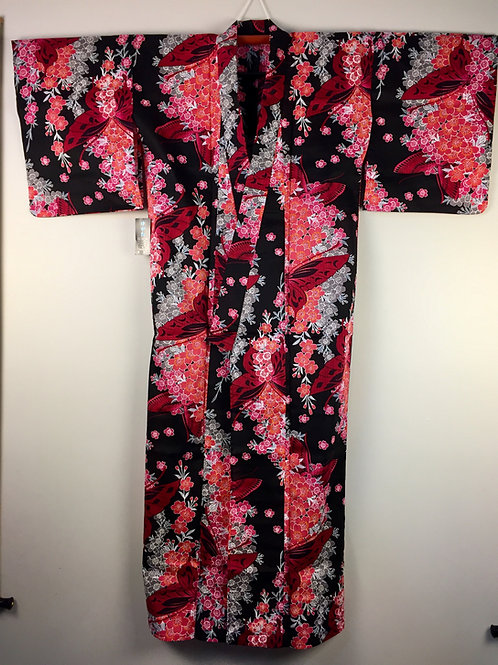 JAPANESE KIMONO / NEW! 2017 YEAR - YUKATA / CHERRY BLOSSOM & BUTTERFLY #1511