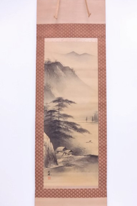 JAPANESE WALL SCROLL / HAND PAINTED SCENERY #0149