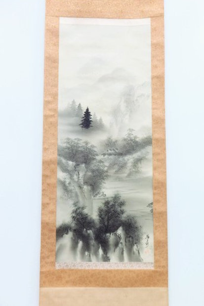 JAPANESE WALL SCROLL / Sumi-e - SCENERY #0154