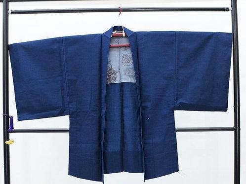 Japanese Haori (Jacket) - Indigo, Wool #0400