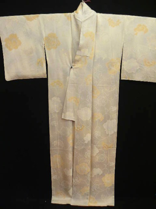 "Silk ""Kimono""with Dyed & Fine Woven Flower Patter"