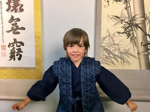 SAMUE JAPANESE KIMONOSET FOR KIDS(JPN:100-120cm) / ASANOHA#0365