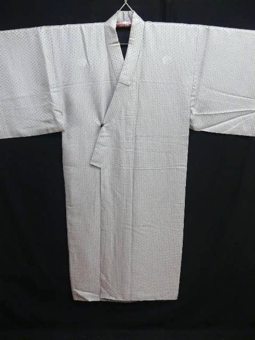 "Ronin Gray ""Kimono"" with Asano Samurai Clan Crests, Woven Patterns / Large #0086"