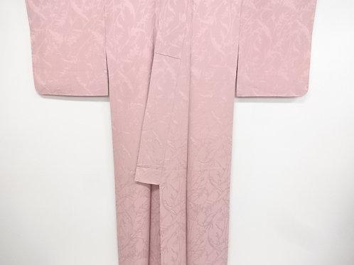 JAPANESE KIMONO / VINTAGE IROMUJI KIMONO / WOVEN GRASS#0354