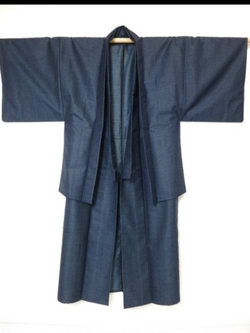 Japanese Men's Kimono & Haori Set; Mt.Fuji Scenery #0047