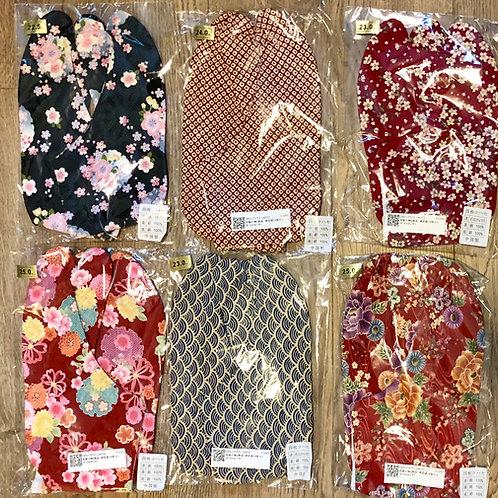 JAPANESE KIMONO / NEW! TABI SOCKS (22-25 CM) #0382