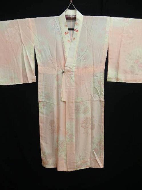 "Light Pink Silk ""Rinzu Naga-juban"" #0106"