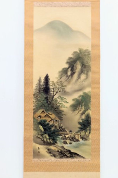 JAPANESE WALL SCROLL  HAND PAINTED  SCENERY#0186