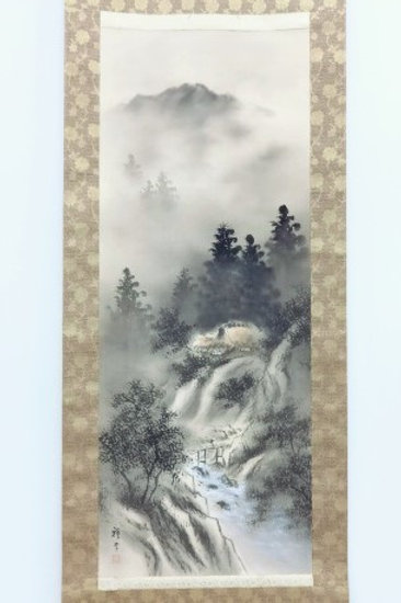JAPANESE WALL SCROLL / PRINTED / SCENERY #0157