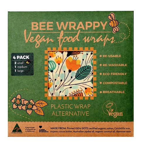 Vegan Food Wraps - 4 Pack