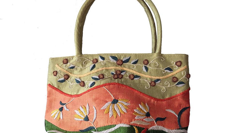 Small Silk Handbag with Handles